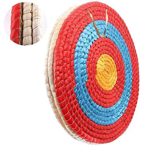 Outdoor-shooter Bogen-Bogenschießen-Ziel 50x50 cm Traditionelles handgemachtes festes Stroh rundes Ziel für im Freienpraxis Bogenschießen-Bogen und Schießenpfeil