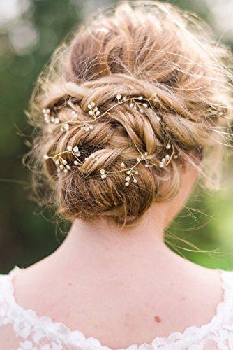 Yean - Tocado para peinado de novia y niñas, accesorios para el pelo con diseño de hojas de viña