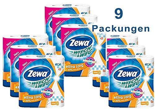 4 x 4 Rollen Zewa Wisch und Weg K/üchenrollen Sparblatt 16 x 74 Blatt trennbare Wischt/ücher f/ür sparsame Nutzung