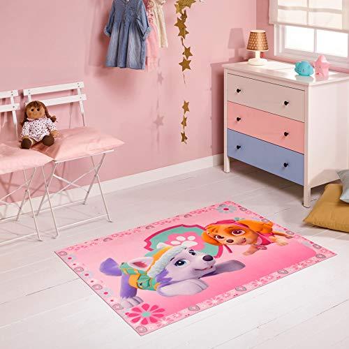 Carpet Studio PAW Patrol Kinderteppich 95x125cm, Spielteppich für Schlafzimmer, Kinderzimmer & Spielzimmer, Waschbar, Einfach zu Säubern, rutschfest - Everest & Sky