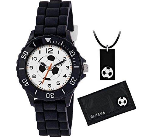 Tikkers Unisex Kinder Analog Quarz Uhr mit Silikon Armband ATK1019