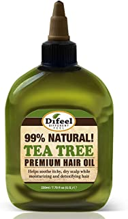 Difeel Premium Natural Hair Oil - Tea Tree Oil for Dry Scalp 8 Ounce