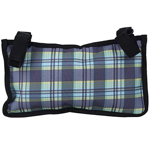 Worii Bolsa Lateral para sillas de Ruedas, Organizador Multifuncional para apoyabrazos, 4 Bolsas de Almacenamiento, Bolsa de Tela Oxford de 18x32,5 cm, Botella de Agua para comestibles