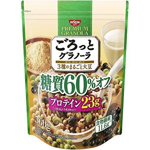 日清シスコ ごろっとグラノーラ 3種のまるごと大豆 糖質60%オフ 360g×6袋 B07P958SYL 1枚目