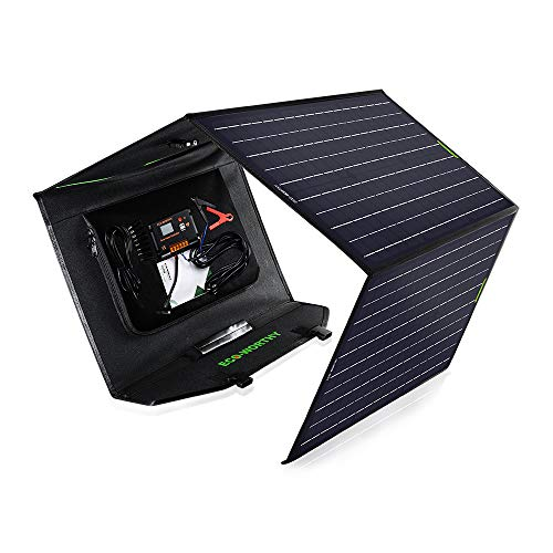 ECO-WORTHY 120 Watt Foldable Solar Panel with 20A Charger Controller for Portable Generator Power Station, Trailer, Camper Car, RV, Boat Battery