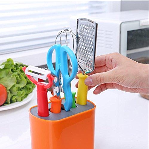 WYFC Ustensiles de cuisine. coupés la pomme cuisine multifonctions râpe jeu de 6 (couleurs aléatoires)