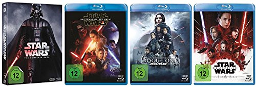 Star Wars 1-8 + Rogue One / 9 Teile [Blu-ray Set]