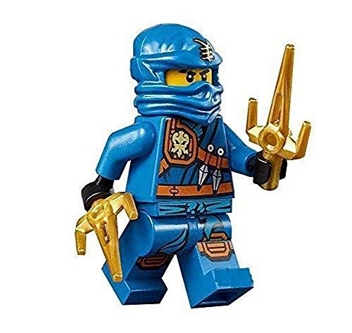 LEGO Ninjago Minifigure - Jay Zukin Robe Jungle Blue Ninja with Dual Gold Sai (70749) by