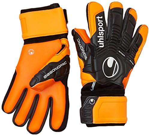 UHL Torwarthandschuhe Ergonomic Absolutgrip HN, Schwarz/Orange, 9.5