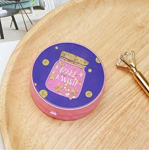 HSDDA HSDDA Cartoon Muster Kontaktlinsenbehälter Reise-Set für Studenten, Kontaktlinsenbox, Flaschengrün, 10.5 x10.7X 3.2 cm