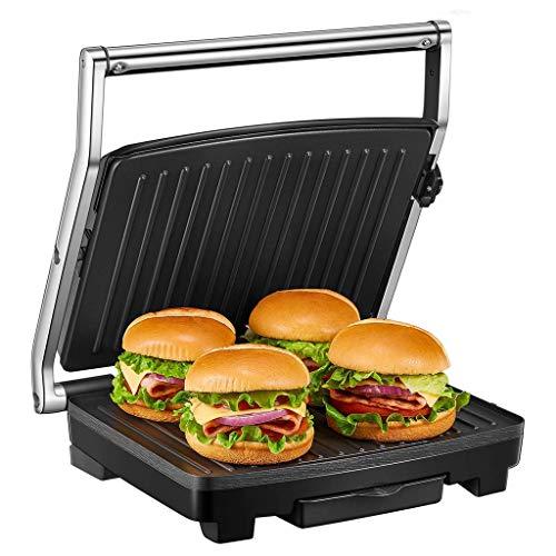 RHSMP Sandwichera, Panini Grill con Control De Temperatura, Prensa De Sándwich Extra Grande De 4 Rebanadas para La Familia, Placas Recubiertas Antiadherentes De 2000 W