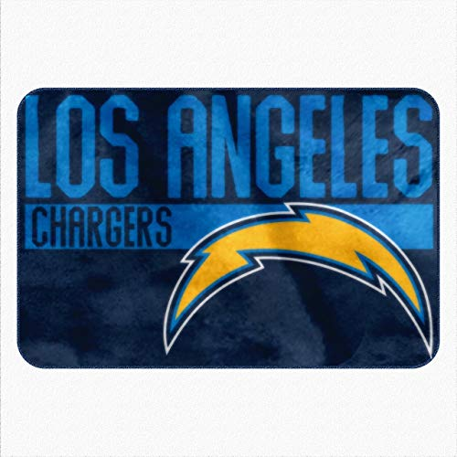 Northwest NFL Los Angeles Chargers Embossed Memory Foam Rug, One Size, Multicolor