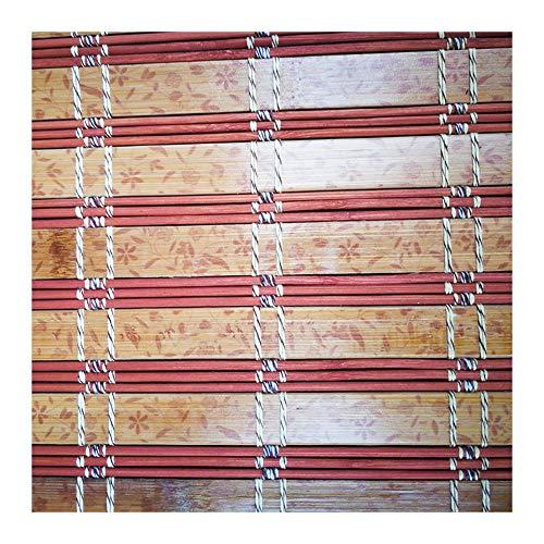 ZEMIN Bambú Persiana Ventana Enrollable Ventana Cuerda Elegante Personalizable Levantamiento, Dentro/Fuera Instalar, 3 Colores, 24 Tallas Opcional (Color : Beige 1, Size : 80x160cm)