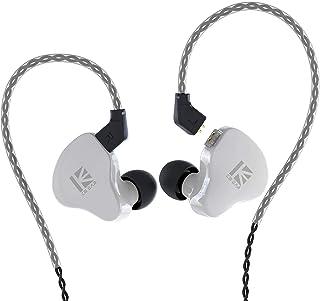 KBEAR KS1 in Ear Monitor, Auricolari Stereo cablati Dual Magnectic Circuit Dynamic, HiFi in Ear Auricolari con Cancellazione del Rumore, Cavo Staccabile (Bianco, senza Mic)