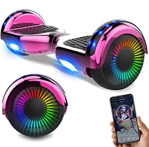 NEOMOTION Hoverboard Scooter da 6,5 ​​Pollici con Bluetooth LED...