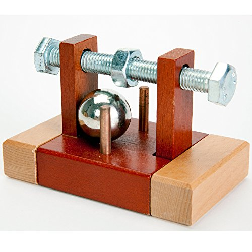 Bits and Pieces - Bolted Close Brainteaser Puzzle - Wooden and Metal Brain Game for Adults