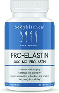 Pro-Elastin - Elastin Support Supplement to Help Reduce Signs of Aging - Improved Skin Health Body Kitchen- 60 Count