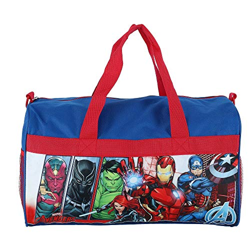 Boys Avengers 18' Blue/Red Duffel Bag Standard