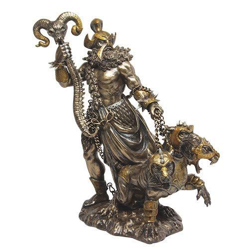 Pacific Giftware Greek God of Underworld Hades with Cerberus Dog Statue Roman Figure