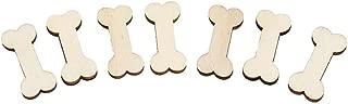 ruiycltd 50Pcs Laser Cut Mini Wooden Blank Bones Tag Ornaments DIY Craft Home Decoration