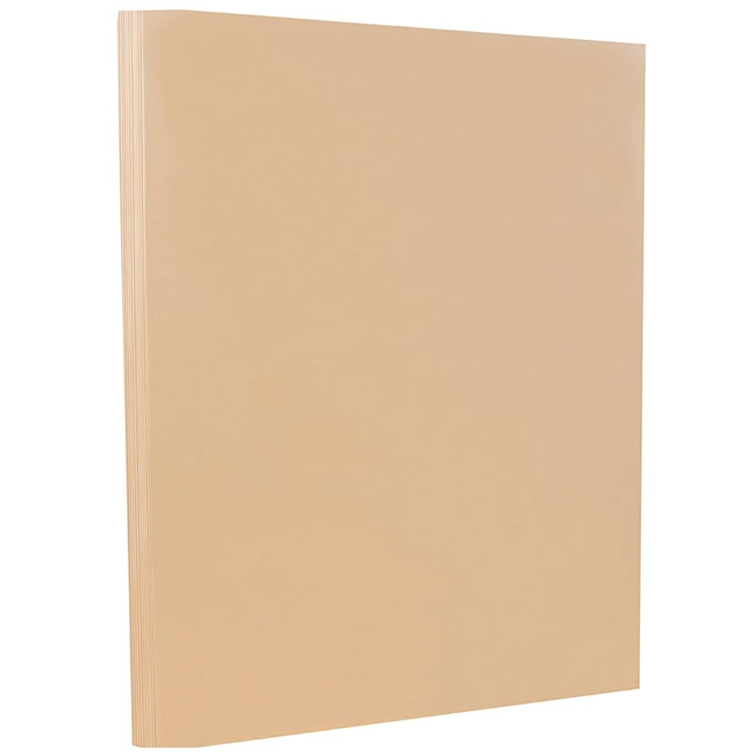 JAM PAPER Vellum Bristol 67lb Cardstock - 8.5 x 11 Letter Coverstock - Tan Brown - 50 Sheets/Pack