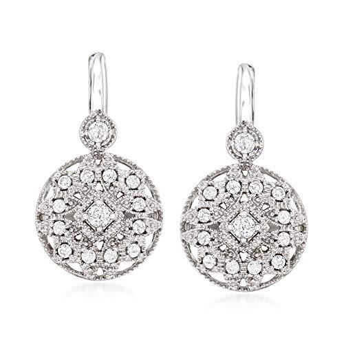 Ross-Simons 0.50 ct. t.w. Diamond Multi-Shape Drop Earrings in Sterling Silver