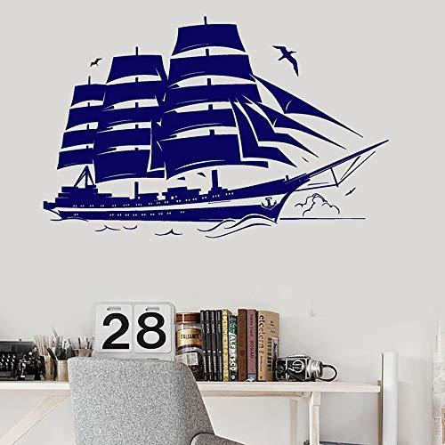 Bootzeil Muursticker Schip Jacht Ocean Marine Themed Badkamer Kids Kamer Home Decor Vinyl Window Stickers Waterdichte muurschildering