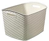 Curver - Cesta Organizadora Multiusos MyStyle Emily XL 28L. con Asas - Color Blanco...