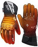 Beheizbare Handschuhe, Beheizte Handschuhe Winter mit 2500MAH Wiederaufladbare Lithium-Ionen-Batterie, Akku beheizbare motorradhandschuhe für Motorradfahren, Skifahren, Outdoor-Aktivitäten