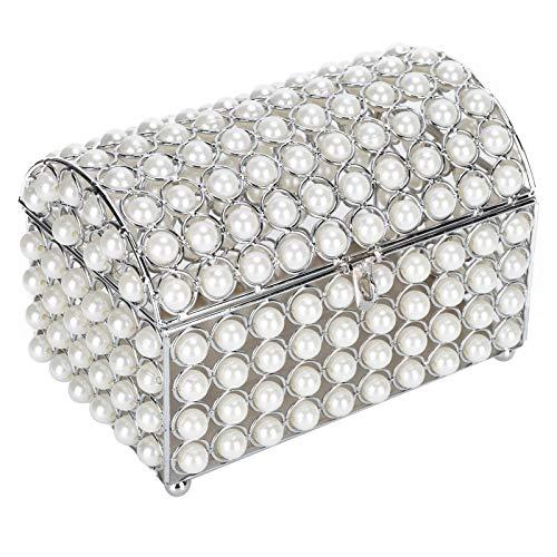 Sanpyl Caja de Almacenamiento de Collar, joyero, Estuche de Maquillaje, Perla de imitación Resistente a los arañazos Exquisitos coleccionables para organizar Joyas, cumpleaños, Regalos, Anillos