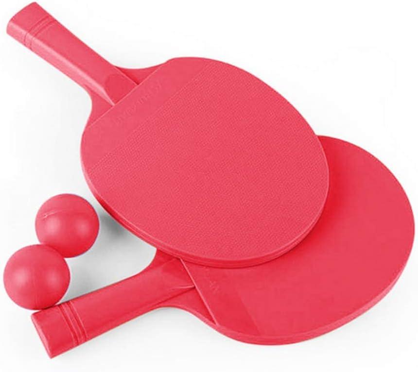 GGOODD El Plastico Juego De Raquetas De Tenis De Mesa, Apretón De Manos Juego De Paletas De Ping Pong, Pantalones De Entrenamiento De Plastico para Niños Juguetes Fitness Entretenimiento