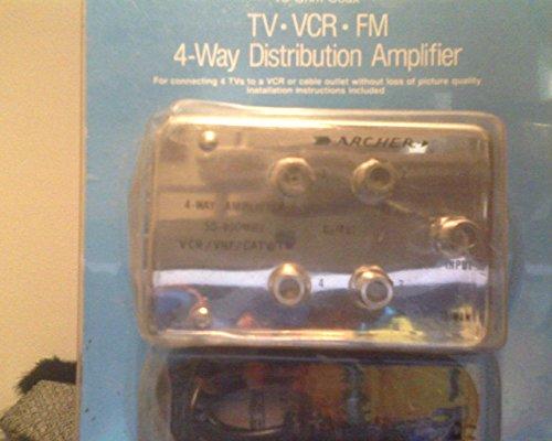 Radio Shack TV-VCR-FM Amplifier 4-Way Splitter 15-1119A