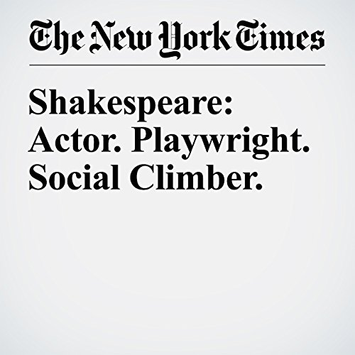Shakespeare: Actor. Playwright. Social Climber. audiobook cover art