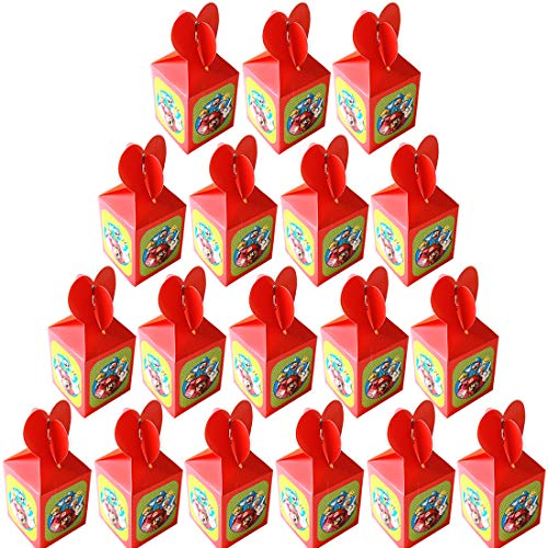 Super Mario Kids Party Box 18pcs reutilizables Kids Mario Party Bags para regalos de fiesta de cumpleaños temáticos Regala suministros de regalo Caja de comida