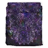 DAMKELLY Store Edredón negro suave microfibra ligero – 4 piezas juego de ropa de cama para toda la temporada blanco 228 x 228 cm