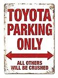 Mr.sign Toyota Parking Only Blechschilder Vintage Metall