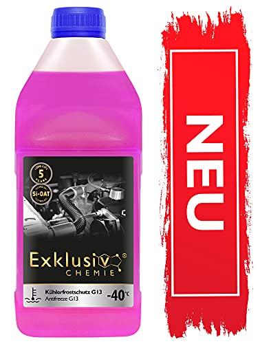 NOWOŚĆ! Exklusiv Chemie® Płyn do chłodnic G13 5 lat | Płyn do chłodnic samochodowych -40° | Płyn do chłodnic samochodowych G13 | Gotowy do użycia | 1000ml