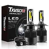 TXVSO8 Bombillas de Faros LED H4 6000K Faros Delanteros de Coche Blancos IP68 Impermeable Fácil instalación 2pcs / Set