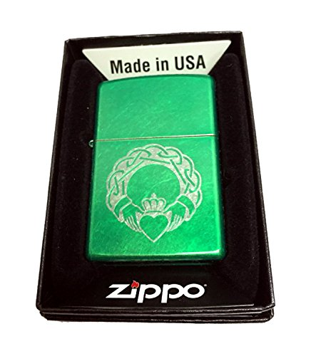 Zippo Custom Lighter - Celtic Claddagh with Heart - Regular Meadow