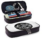 The Po-Gues - Estuche para lápices de gran capacidad, bolsa de maquillaje para bolígrafos de maquillaje y artículos de papelería con doble cremallera para la escuela y la oficina