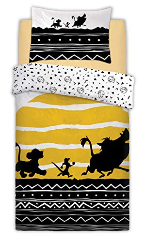 Disney Reversible Printed Lion King Tribal Sunrise Poly Cotton Duvet Quilt Cover Bedset, 2 Pcs - Single