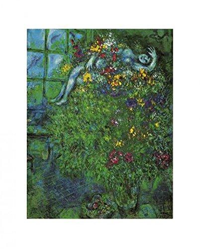 1art1 Marc Chagall - Le Bouquet Ardent Poster Kunstdruck 80 x 60 cm