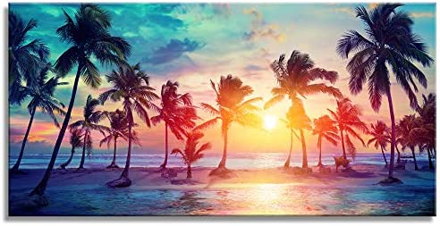Canvas Prints Landscape Sea Beach Canvas Wall Art Nature Picture Ocean Canvas Art Framed Ready product image