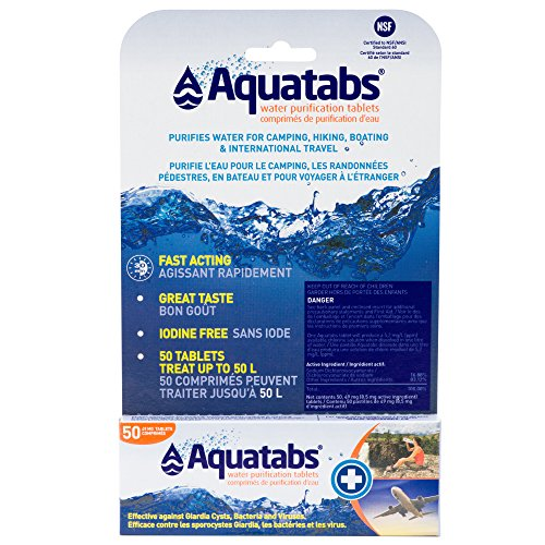 Aquatabs 49 mg (8.5 mg Active) Water Purification Tablets