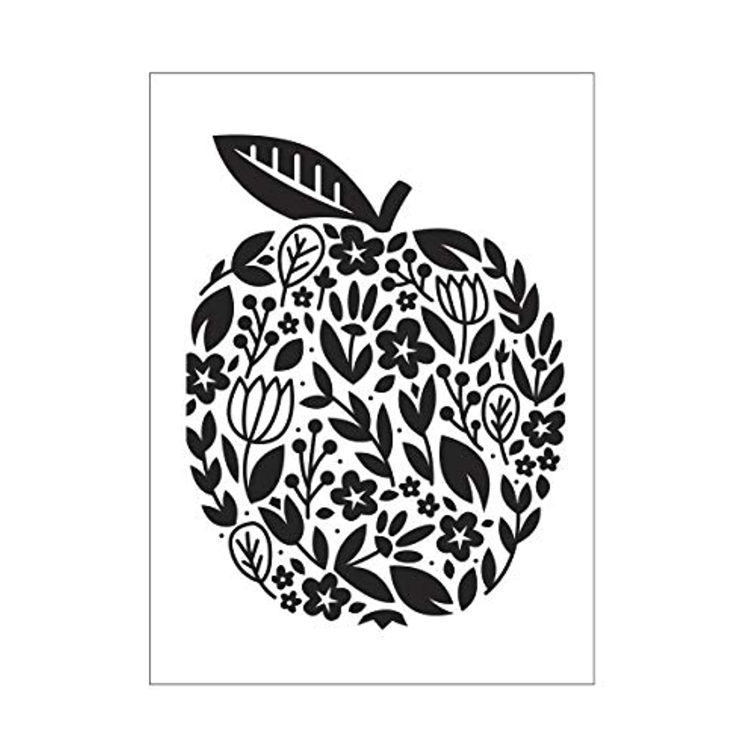 Darice Embossing Folder A6, Template Floral Apple, Transparente