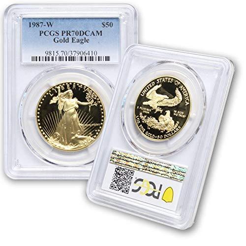 1987 W 1 oz American Gold Eagle $50 PR70DCAM PCGS