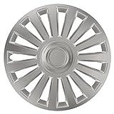 CM DESIGN Radkappen 16 Zoll Luxury Silber Radzierblenden für Fast Jede handelsübliche Stahlfelge
