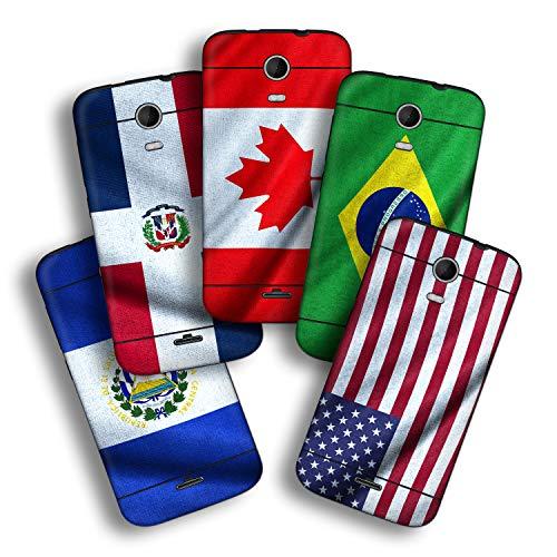 atFolix Designfolie kompatibel mit Wiko Darkmoon, wähle Dein Lieblings-Design aus, Skin Aufkleber (Flaggen aus Amerika)