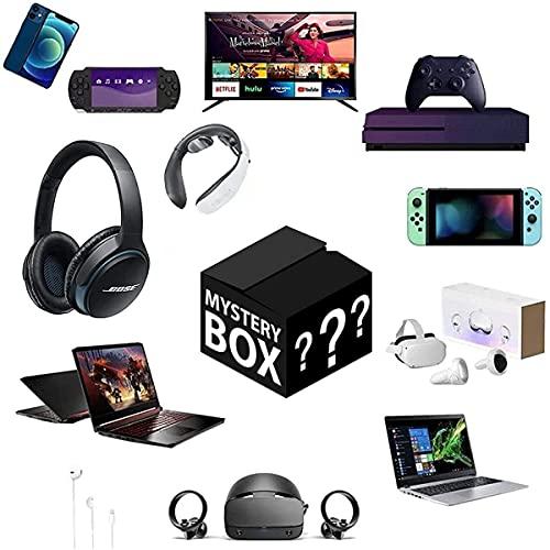 Boîte mystérieuse électronique, boîte de mystère chanceuse, boîtes mystérieuses électroniques,boîte aveugle équipée,cadeau de souhaits chanceux non ouvert pour tout cas de chanceux possible au hasard