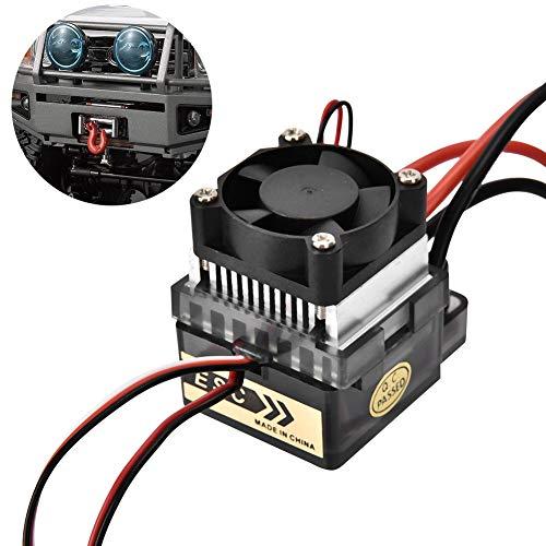SANON Esc Elektrischer Drehzahlregler mit Lüfter Hochspannung 320A Wasserdicht Gebürstet für RC-Modell